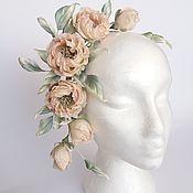 Свадебный салон handmade. Livemaster - original item Flower arrangement on the rim