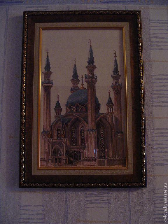 Город ручной работы. Ярмарка Мастеров - ручная работа. Купить Мечеть Кул-Шариф. Handmade. Картина в подарок, собор