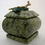 Для дома и интерьера ручной работы. Ярмарка Мастеров - ручная работа Шкатулочка из змеевика, природного камня. Handmade.
