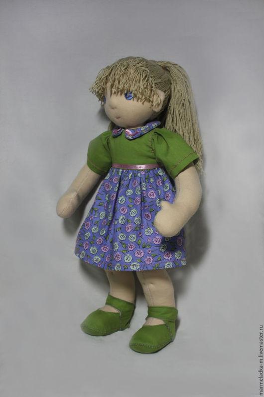 Вальдорфская игрушка ручной работы. Ярмарка Мастеров - ручная работа. Купить Вальдорфская текстильная кукла. Handmade. Бежевый, кукла в подарок