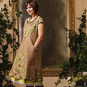 Одежда ручной работы. Ярмарка Мастеров - ручная работа Платье миди, женственное платье, элегантное платье Ящерка На Камне. Handmade.
