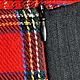Юбки ручной работы. Заказать Длинная юбка с клиньями из правильной шотландки. Ирловин. Ярмарка Мастеров. Юбка в клетку, шотландка, серый