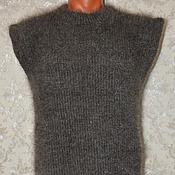 Одежда ручной работы. Ярмарка Мастеров - ручная работа жилет пуховый вязаный мужской. Handmade.