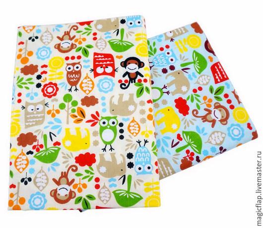 Шитье ручной работы. Ярмарка Мастеров - ручная работа. Купить Ткань хлопок Зверушки. 2 цвета. Для пэчворка, текстиля, детской, кукол. Handmade.