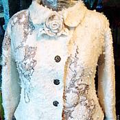 "Одежда ручной работы. Ярмарка Мастеров - ручная работа Куртка валяная ""Любаша"". Handmade."