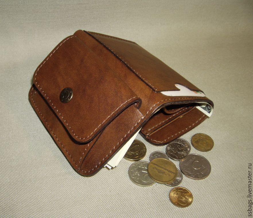 Wallet small leather. Genuine leather, Wallets, St. Petersburg,  Фото №1