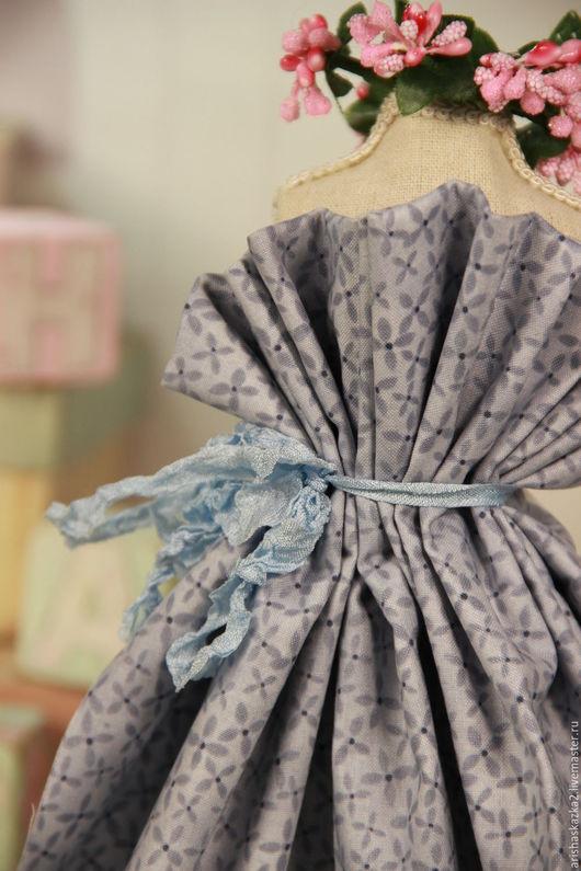 Куклы и игрушки ручной работы. Ярмарка Мастеров - ручная работа. Купить Ткань хлопок для кукольной одежды для кукол. Handmade. Серый