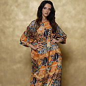 Одежда handmade. Livemaster - original item Floor-length dress made of satin. Handmade.