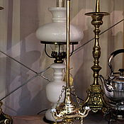 Керасиновая лампадка с приборами