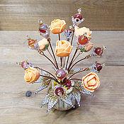 Цветы и флористика handmade. Livemaster - original item Carnelian flowers