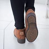 Обувь ручной работы. Ярмарка Мастеров - ручная работа Валяные полуботинки осенний лист. Handmade.