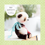 Материалы для творчества ручной работы. Ярмарка Мастеров - ручная работа Выкройка панды тедди. Handmade.