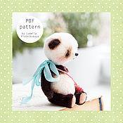 Материалы для творчества ручной работы. Ярмарка Мастеров - ручная работа Выкройка мишки тедди Панда, выкройка панды, выкройка игрушки тедди. Handmade.