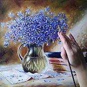 Картины и панно handmade. Livemaster - original item Oil painting with a bouquet of your Favorite books. Handmade.