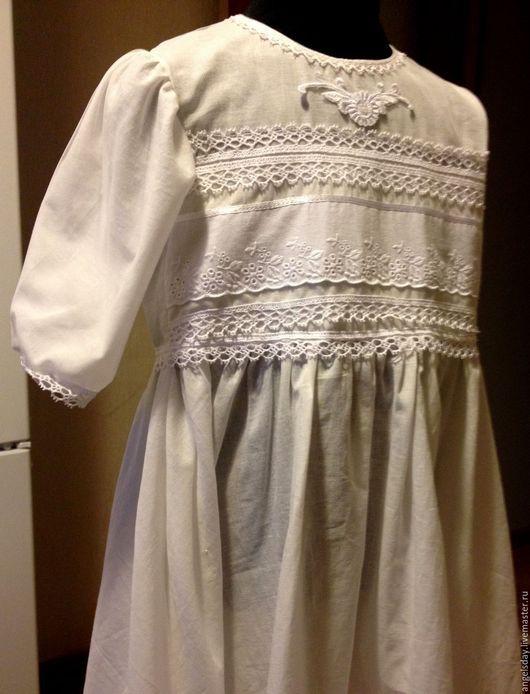 """Платья ручной работы. Ярмарка Мастеров - ручная работа. Купить Платье крестильное """"Праздничное"""". Handmade. Крестильное платье, крестильный набор"""