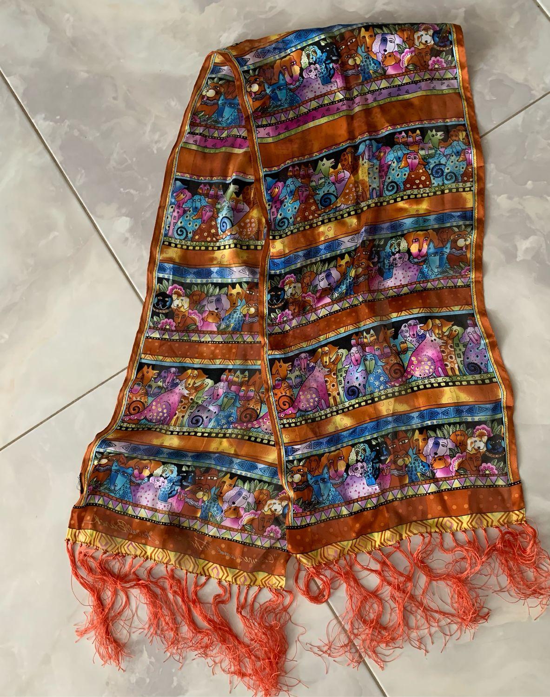 Винтаж: Laurel Burch шарф 28 х 136 см, Одежда винтажная, Владивосток,  Фото №1