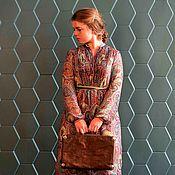 Одежда ручной работы. Ярмарка Мастеров - ручная работа Платье из шифона ПЕЙСЛИ. Handmade.