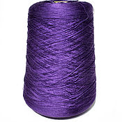 Материалы для творчества handmade. Livemaster - original item Yarn silk. Mulberry Silk. The color purple. Handmade.