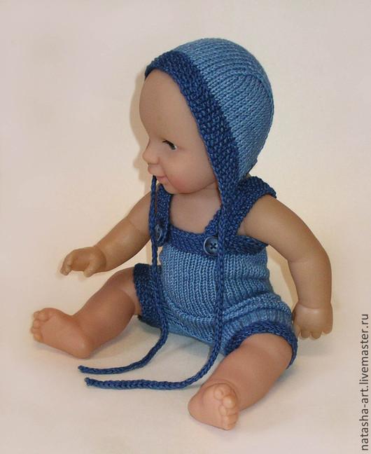 Для новорожденных, ручной работы. Ярмарка Мастеров - ручная работа. Купить Два цвета денима - для фотосессии новорожденных. Handmade. Синий