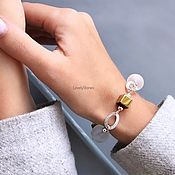 Украшения handmade. Livemaster - original item Bracelet white and gold rhinestone / hematite stylish beautiful. Handmade.