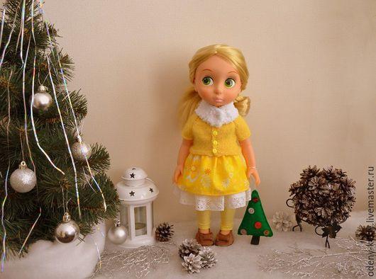 Одежда для кукол ручной работы. Ярмарка Мастеров - ручная работа. Купить №034 Комплект теплой одежды  для куклы Дисней/Disney.. Handmade.