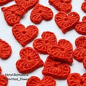Материалы для творчества handmade. Livemaster - original item Hearts crochet small. Handmade.