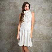 Одежда ручной работы. Ярмарка Мастеров - ручная работа Белое валяное платье. Handmade.