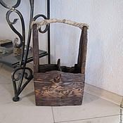 """Для дома и интерьера ручной работы. Ярмарка Мастеров - ручная работа Корзина для винных бутылок """"Старый корабль"""". Handmade."""