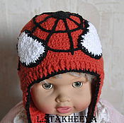 Работы для детей, ручной работы. Ярмарка Мастеров - ручная работа шапка человек паук. Handmade.