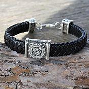 Украшения handmade. Livemaster - original item Star of Russia leather Braided Bracelet. Handmade.