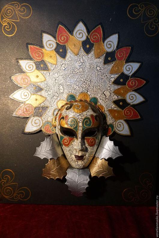"""Интерьерные  маски ручной работы. Ярмарка Мастеров - ручная работа. Купить Венецианская маска """"Autunno signora"""". Handmade. Комбинированный, маска"""