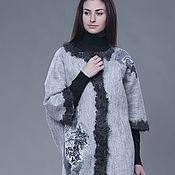 """Одежда ручной работы. Ярмарка Мастеров - ручная работа Валяное пальто не маленького размера  """"Gray"""". Handmade."""