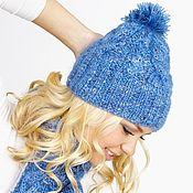 Аксессуары handmade. Livemaster - original item Knitted hat with pompom. Handmade.