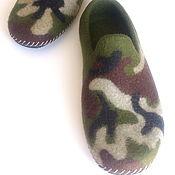 Обувь ручной работы handmade. Livemaster - original item Loafers men`s felted. Handmade.