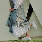 Одежда handmade. Livemaster - original item Skirt linen gray. Long summer skirt. Handmade.