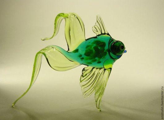 Статуэтки ручной работы. Ярмарка Мастеров - ручная работа. Купить Стеклянная фигурка рыба Large Zenith Телескоп. Handmade. Рыба