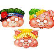 Сувениры и подарки handmade. Livemaster - original item Fun: Set of carnival masks