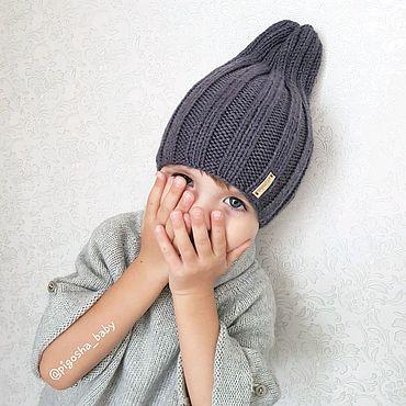 Одежда ручной работы. Ярмарка Мастеров - ручная работа Вязаная шапочка-луковка. Handmade.