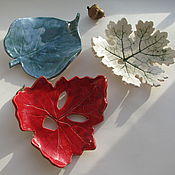 Для дома и интерьера ручной работы. Ярмарка Мастеров - ручная работа Мыльницы - листья, керамика. Handmade.