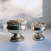 Винтаж handmade. Livemaster - original item Vintage silver plated roseballs for cut flowers Lanthe England. Handmade.