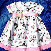 """Работы для детей, ручной работы. Ярмарка Мастеров - ручная работа платье """"Париж"""". Handmade."""