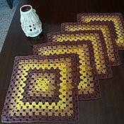 """Для дома и интерьера ручной работы. Ярмарка Мастеров - ручная работа Салфетки на стол """"Бабушкин квадрат"""". Handmade."""