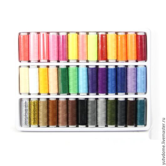 Шитье ручной работы. Ярмарка Мастеров - ручная работа. Купить 0650 Набор ниток для шитья 39 цветов. Handmade. Нитки