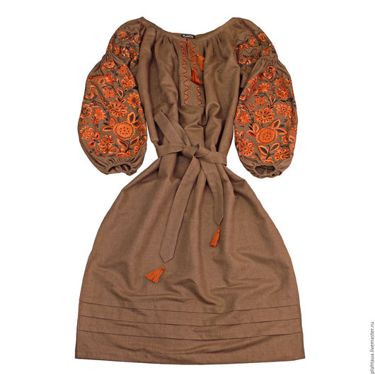 """Платья ручной работы. Ярмарка Мастеров - ручная работа. Купить Длинное коричневое платье """"Чудо -Дерево"""". Handmade. Коричневый"""