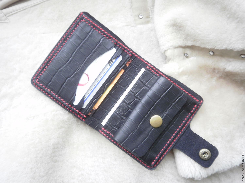 cdbb8716dd79 Кошельки и визитницы ручной работы. Ярмарка Мастеров - ручная работа. Купить  Кожаный кошелёк портмоне ...
