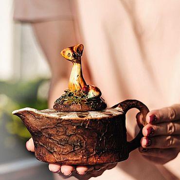 Посуда ручной работы. Ярмарка Мастеров - ручная работа Лисий чайник. Handmade.