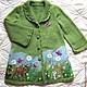 """Одежда для девочек, ручной работы. Ярмарка Мастеров - ручная работа. Купить Кофточка-пальто """"Бэмби"""". Handmade. Детская кофточка, вышивка"""