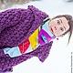 Верхняя одежда ручной работы. Баклажановый короткий кардиганчик на осень или авто-зиму). free Tree. Интернет-магазин Ярмарка Мастеров.