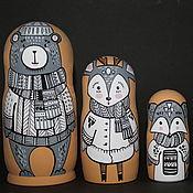 Русский стиль handmade. Livemaster - original item Matryoshka Affectionate Animals. Handmade.