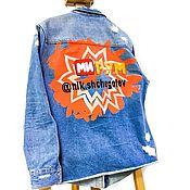 Куртки ручной работы. Ярмарка Мастеров - ручная работа Куртки: Джинсовка с ручной росписью. Handmade.